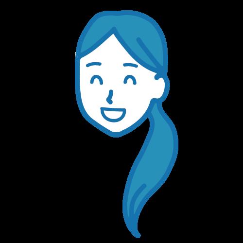 笑顔の女性イラスト2