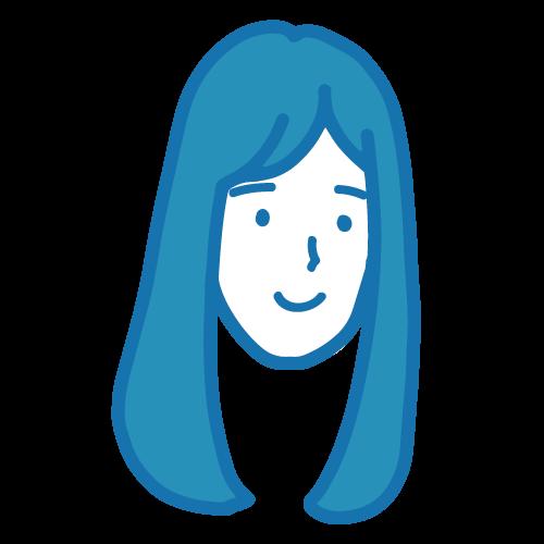 真顔の女性イラスト3