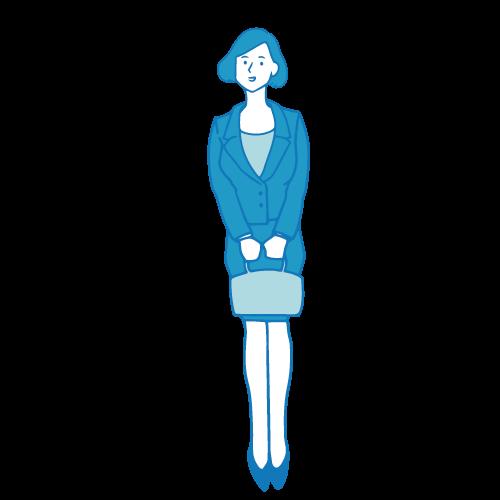 受付の女性イラスト(基本)