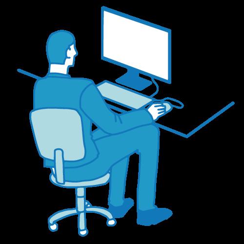 営業の男性イラスト(PC2)