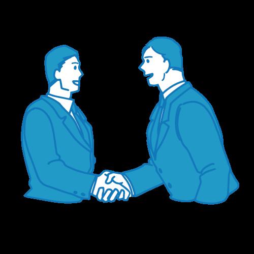 営業の男性イラスト(握手)