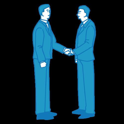 営業の男性イラスト(握手2)