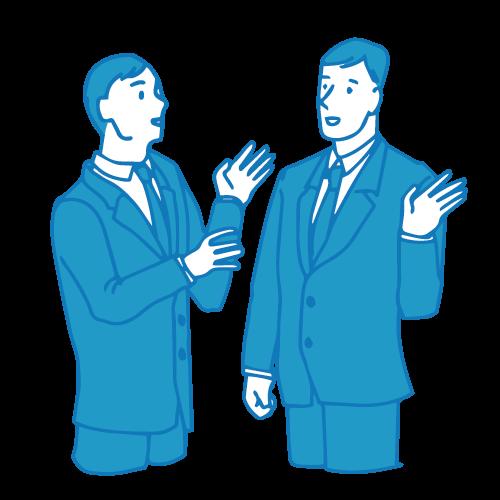 営業の男性イラスト(会話)
