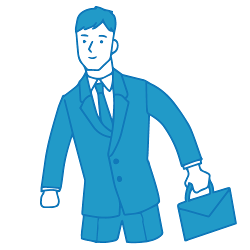 営業の男性イラスト(外回り2)
