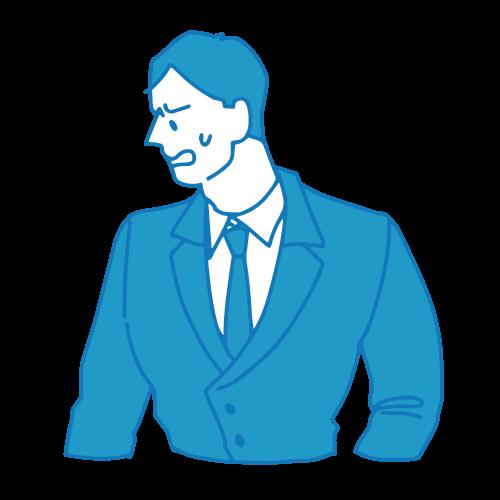営業の男性イラスト(困る2)