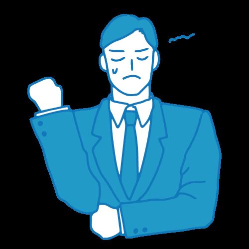 営業の男性イラスト(困る4)