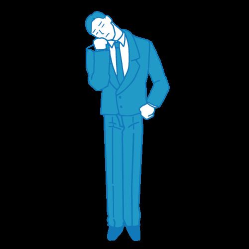 営業の男性イラスト(困る5)