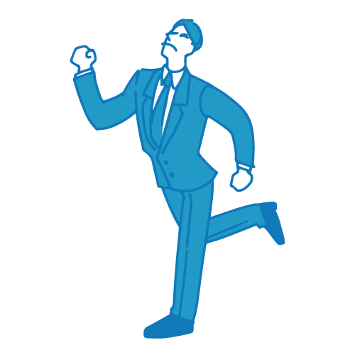 営業の男性イラスト(走る)
