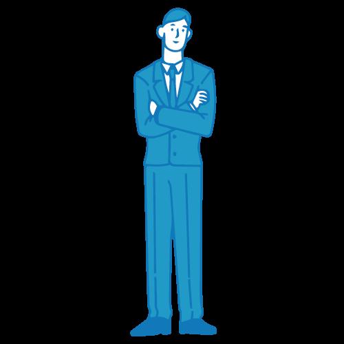 営業の男性イラスト(腕組み)