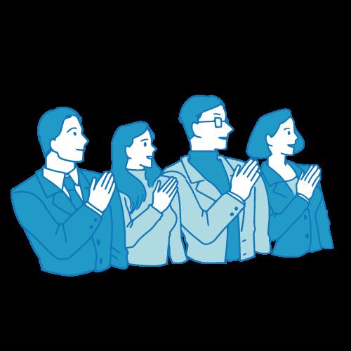 会議のイラスト(チーム1)