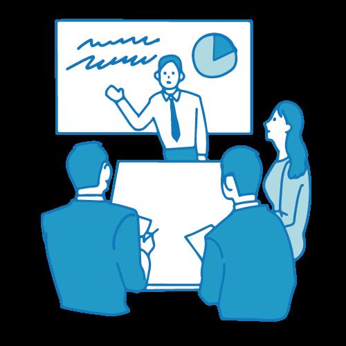 会議のイラスト(テーブル2)