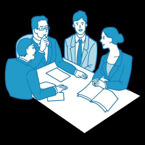会議のイラスト(テーブル3)