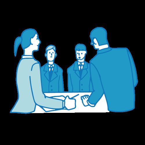 会議のイラスト(テーブル4)