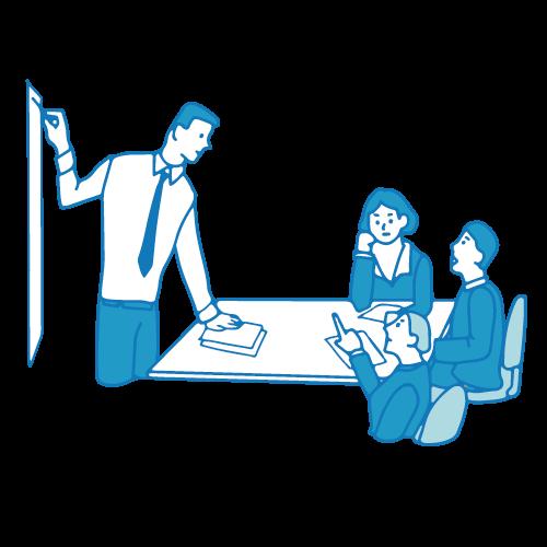 会議のイラスト(テーブル5)