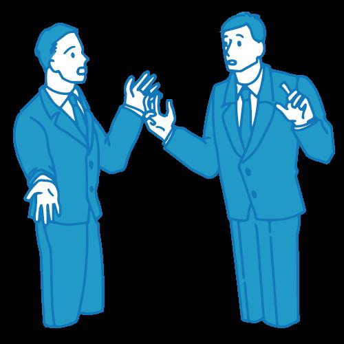 会議のイラスト(会話)